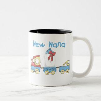 Train New Nana It's a Boy Two-Tone Coffee Mug