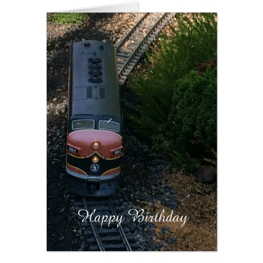 Train on the Tracks Birthday Greeting Card