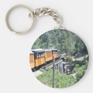 Train on tressle key ring