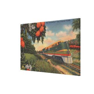 Train- Orange Blossom Special Canvas Print