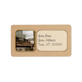 Train - Pittsburg Pa - The industrial city Address Label