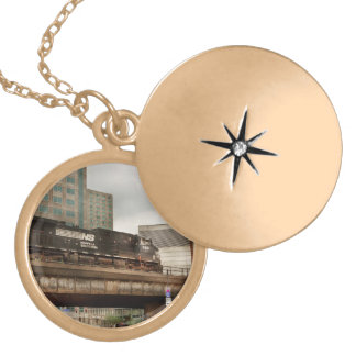 Train - Pittsburg Pa - The industrial city Locket Necklace