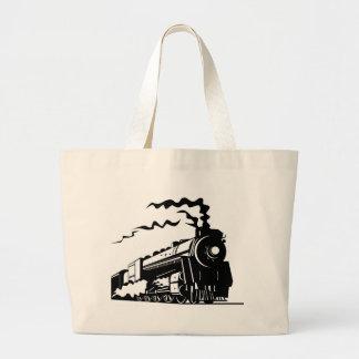 Train Print Jumbo Tote Bag