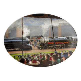 Train - Railroad Pageant 1939 Porcelain Serving Platter