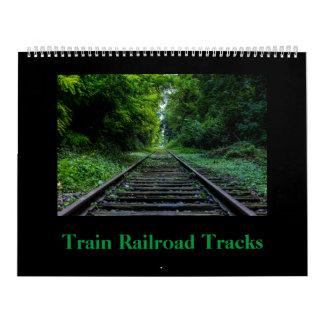 Train Railroad Track Calendar