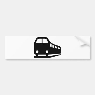 Train railway bumper sticker