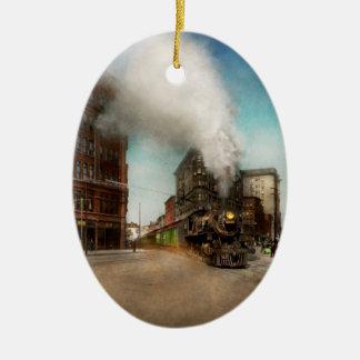 Train - Respect the train 1905 Ceramic Ornament