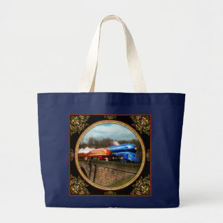 Train - Retro - Meet the Royals 1938 Large Tote Bag