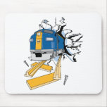 Train Rip Mouse Pads