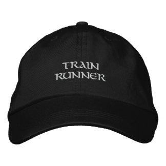 Train Runner Embroidered Baseball Caps