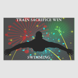 Train Sacrifice Win Swimming Stickers