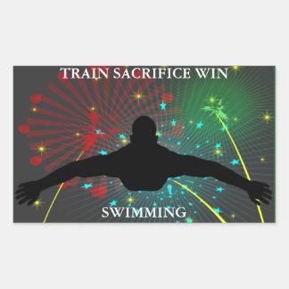 Train Sacrifice Win Swimming Stickers