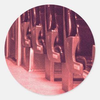 Train  Seats in Red Round Sticker