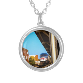 Train Silver Plated Necklace