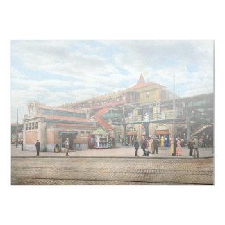 Train Station - Atlantic Ave Control House 1910 Card