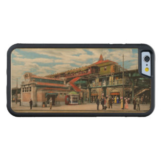 Train Station - Atlantic Ave Control House 1910 Carved Maple iPhone 6 Bumper Case