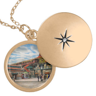 Train Station - Atlantic Ave Control House 1910 Locket Necklace
