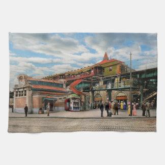 Train Station - Atlantic Ave Control House 1910 Tea Towel