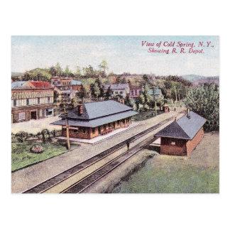 Train Station, Cold Spring, New York, Vintage Postcard