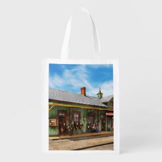 Train Station - Garrison train station 1880 Reusable Grocery Bag