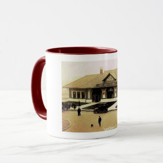 Train Station, Long Beach, Long Island, NY Vintage Mug