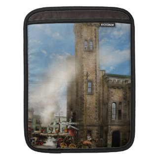 Train Station - Look out for the train 1910 iPad Sleeves