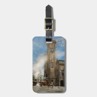 Train Station - Look out for the train 1910 Luggage Tag