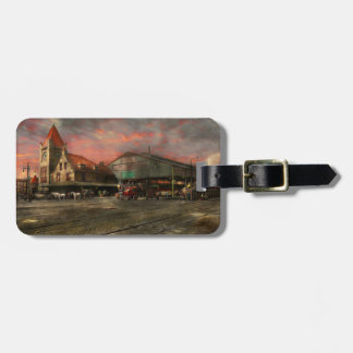 Train Station - NY Central Railroad depot 1905 Luggage Tag