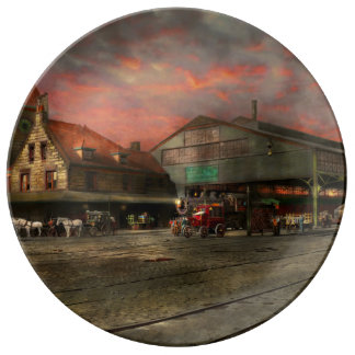 Train Station - NY Central Railroad depot 1905 Plate