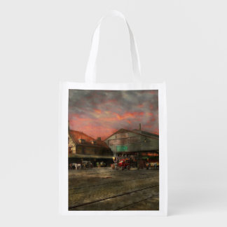 Train Station - NY Central Railroad depot 1905 Reusable Grocery Bag
