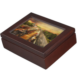 Train Station - The romance of the rails 1908 Keepsake Box