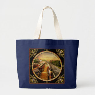 Train Station - The romance of the rails 1908 Large Tote Bag