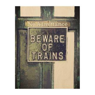 TRAIN STATION WOOD WALL DECOR