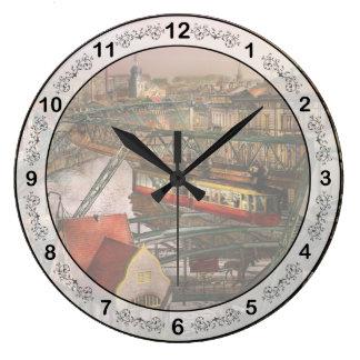 Train Station - Wuppertal Suspension Railway 1913 Wall Clock