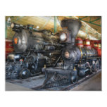 Train - Steam Locomotives 11 Cm X 14 Cm Invitation Card