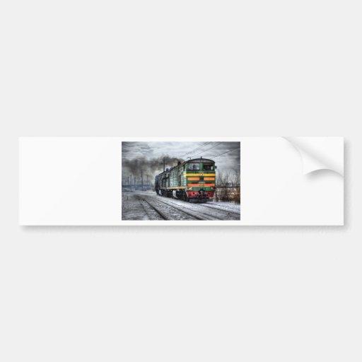 Train Steam Railroad Steampunk Engine Destiny Bumper Stickers