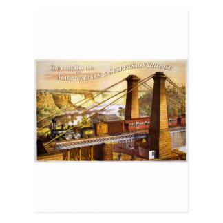 Train Steam Railroad Steampunk Engine Destiny Post Card