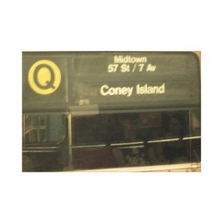 Train to Coney Island Canvas Print