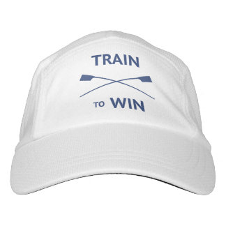 Train to win quote rowers custom text hat