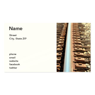 Train Track Pack Of Standard Business Cards