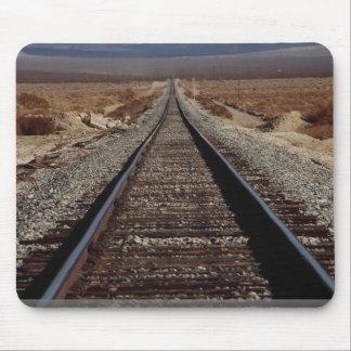 Train tracks, Mojave Desert, California, U.S.A. Mouse Pads