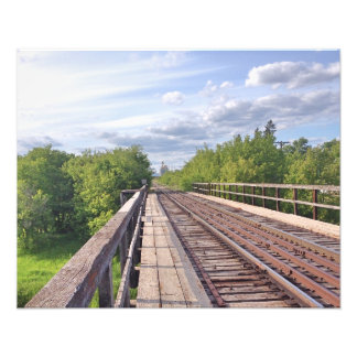 Train Tracks small poster Photo Art