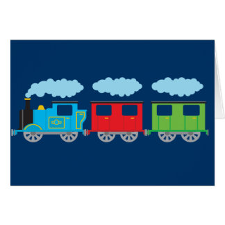 Train & Two Carriages Greeting Card