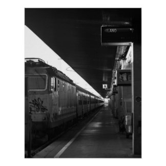Train Venice to Milan poster