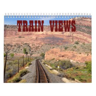 TRAIN VIEWS WALL CALENDARS