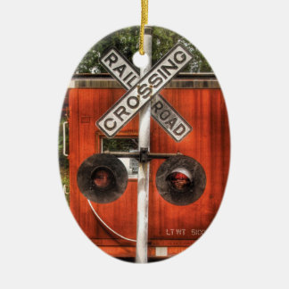 Train - Whippany, NJ - RailRoad Crossing Ceramic Ornament