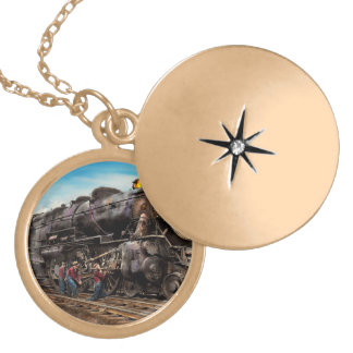 Train - Working on the railroad 1930 Locket Necklace