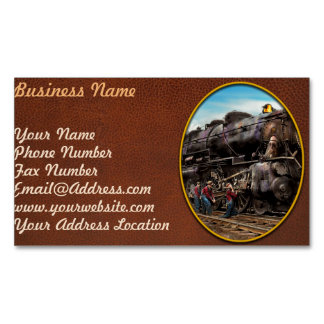Train - Working on the railroad 1930 Magnetic Business Cards