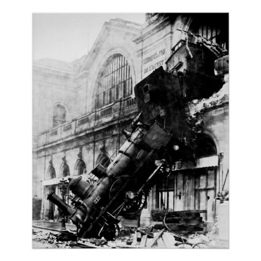 Train Wreck at Montparnasse,  22 October 1895 Posters