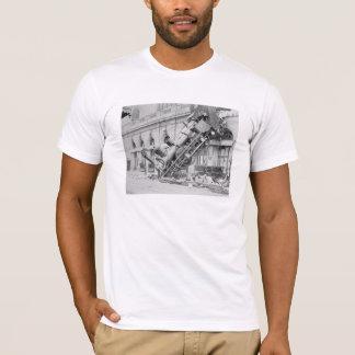 Train Wreck At Montparnasse Station T-Shirt